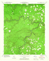 Hebbertsburg Tennessee Historical topographic map, 1:24000 scale, 7.5 X 7.5 Minute, Year 1943