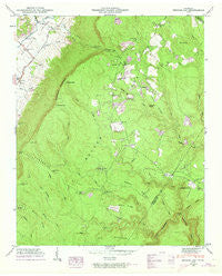 Henson Gap Tennessee Historical topographic map, 1:24000 scale, 7.5 X 7.5 Minute, Year 1946