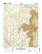 Hillsboro Tennessee Current topographic map, 1:24000 scale, 7.5 X 7.5 Minute, Year 2016 from Tennessee Map Store