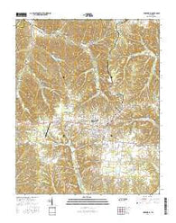 Hohenwald Tennessee Current topographic map, 1:24000 scale, 7.5 X 7.5 Minute, Year 2016
