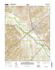 Humboldt Tennessee Current topographic map, 1:24000 scale, 7.5 X 7.5 Minute, Year 2016 from Tennessee Maps Store