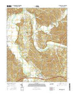 Hurricane Mills Tennessee Current topographic map, 1:24000 scale, 7.5 X 7.5 Minute, Year 2016 from Tennessee Map Store