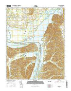 Hustburg Tennessee Current topographic map, 1:24000 scale, 7.5 X 7.5 Minute, Year 2016 from Tennessee Map Store
