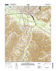 Jackson South Tennessee Current topographic map, 1:24000 scale, 7.5 X 7.5 Minute, Year 2016 from Tennessee Maps Store