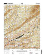 John Sevier Tennessee Current topographic map, 1:24000 scale, 7.5 X 7.5 Minute, Year 2016 from Tennessee Map Store