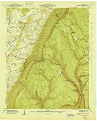 Ketner Gap Tennessee Historical topographic map, 1:24000 scale, 7.5 X 7.5 Minute, Year 1946