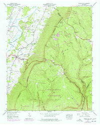 Ketner Gap Tennessee Historical topographic map, 1:24000 scale, 7.5 X 7.5 Minute, Year 1943