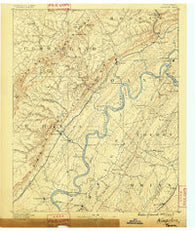 Kingston Tennessee Historical topographic map, 1:125000 scale, 30 X 30 Minute, Year 1887
