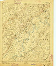 Kingston Tennessee Historical topographic map, 1:125000 scale, 30 X 30 Minute, Year 1891