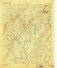 Kingston Tennessee Historical topographic map, 1:125000 scale, 30 X 30 Minute, Year 1893