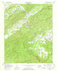 Kinzel Springs Tennessee Historical topographic map, 1:24000 scale, 7.5 X 7.5 Minute, Year 1953