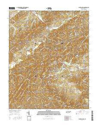 Kinzel Springs Tennessee Current topographic map, 1:24000 scale, 7.5 X 7.5 Minute, Year 2016