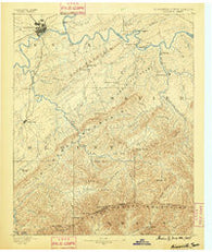 Knoxville Tennessee Historical topographic map, 1:125000 scale, 30 X 30 Minute, Year 1886