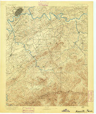 Knoxville Tennessee Historical topographic map, 1:125000 scale, 30 X 30 Minute, Year 1892