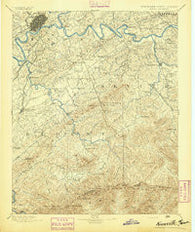 Knoxville Tennessee Historical topographic map, 1:125000 scale, 30 X 30 Minute, Year 1894