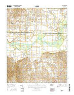 Lane Tennessee Current topographic map, 1:24000 scale, 7.5 X 7.5 Minute, Year 2016 from Tennessee Map Store