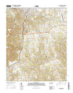 Lawrenceburg Tennessee Current topographic map, 1:24000 scale, 7.5 X 7.5 Minute, Year 2016 from Tennessee Map Store