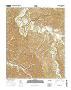 Leatherwood Tennessee Current topographic map, 1:24000 scale, 7.5 X 7.5 Minute, Year 2016 from Tennessee Map Store