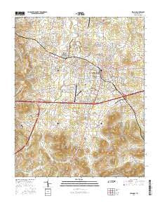 Lebanon Tennessee Current topographic map, 1:24000 scale, 7.5 X 7.5 Minute, Year 2016