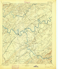 Loudon Tennessee Historical topographic map, 1:125000 scale, 30 X 30 Minute, Year 1895