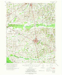 Martin Tennessee Historical topographic map, 1:62500 scale, 15 X 15 Minute, Year 1972