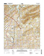Maryville Tennessee Current topographic map, 1:24000 scale, 7.5 X 7.5 Minute, Year 2016 from Tennessee Map Store