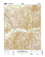McKenzie Tennessee Current topographic map, 1:24000 scale, 7.5 X 7.5 Minute, Year 2016 from Tennessee Map Store