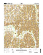 McLemoresville Tennessee Current topographic map, 1:24000 scale, 7.5 X 7.5 Minute, Year 2016 from Tennessee Map Store