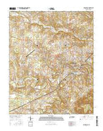 McMinnville Tennessee Current topographic map, 1:24000 scale, 7.5 X 7.5 Minute, Year 2016 from Tennessee Map Store
