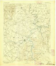 Mc Minnville Tennessee Historical topographic map, 1:125000 scale, 30 X 30 Minute, Year 1893