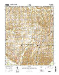 Medina Tennessee Current topographic map, 1:24000 scale, 7.5 X 7.5 Minute, Year 2016