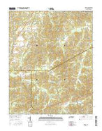 Medon Tennessee Current topographic map, 1:24000 scale, 7.5 X 7.5 Minute, Year 2016 from Tennessee Map Store