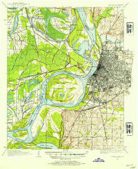Memphis Tennessee Historical topographic map, 1:62500 scale, 15 X 15 Minute, Year 1916