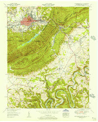 Middlesboro South Kentucky Historical topographic map, 1:24000 scale, 7.5 X 7.5 Minute, Year 1955