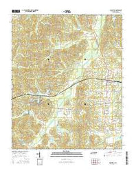 Middleton Tennessee Current topographic map, 1:24000 scale, 7.5 X 7.5 Minute, Year 2016