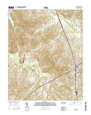 Milan Tennessee Current topographic map, 1:24000 scale, 7.5 X 7.5 Minute, Year 2016 from Tennessee Maps Store