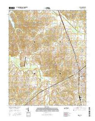 Milan Tennessee Current topographic map, 1:24000 scale, 7.5 X 7.5 Minute, Year 2016