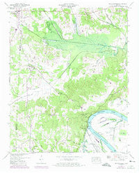 Milledgeville Tennessee Historical topographic map, 1:24000 scale, 7.5 X 7.5 Minute, Year 1949