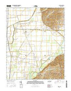 Miston Tennessee Current topographic map, 1:24000 scale, 7.5 X 7.5 Minute, Year 2016 from Tennessee Map Store
