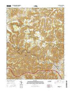 Monterey Tennessee Current topographic map, 1:24000 scale, 7.5 X 7.5 Minute, Year 2016 from Tennessee Map Store