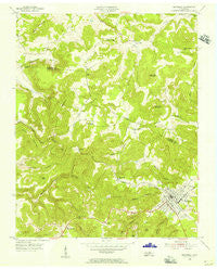 Monterey Lake Tennessee Historical topographic map, 1:24000 scale, 7.5 X 7.5 Minute, Year 1955