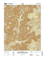 Monterey Lake Tennessee Current topographic map, 1:24000 scale, 7.5 X 7.5 Minute, Year 2016 from Tennessee Map Store