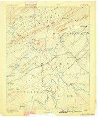 Morristown Tennessee Historical topographic map, 1:125000 scale, 30 X 30 Minute, Year 1883