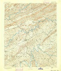 Morristown Tennessee Historical topographic map, 1:125000 scale, 30 X 30 Minute, Year 1893