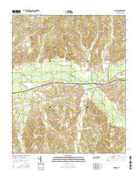 Moscow Tennessee Current topographic map, 1:24000 scale, 7.5 X 7.5 Minute, Year 2016
