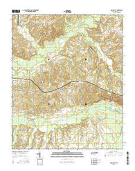 Moscow SE Tennessee Current topographic map, 1:24000 scale, 7.5 X 7.5 Minute, Year 2016