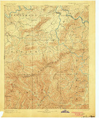 Mt Guyot Tennessee Historical topographic map, 1:125000 scale, 30 X 30 Minute, Year 1893