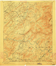 Murphy Tennessee Historical topographic map, 1:125000 scale, 30 X 30 Minute, Year 1893