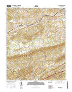 New Market Tennessee Current topographic map, 1:24000 scale, 7.5 X 7.5 Minute, Year 2016 from Tennessee Map Store