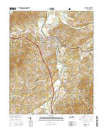 Newport Tennessee Current topographic map, 1:24000 scale, 7.5 X 7.5 Minute, Year 2016 from Tennessee Map Store